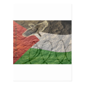 political items basque palesinian post card