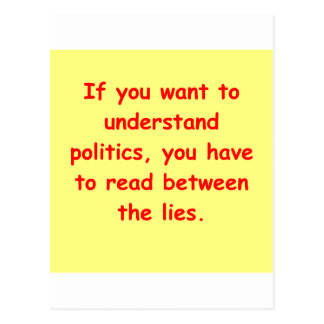 political joke post card