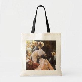 Political Lady by James Tissot, Vintage Victorian Budget Tote Bag