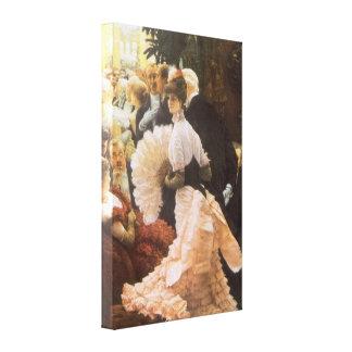 Political Lady by James Tissot, Vintage Victorian Stretched Canvas Prints