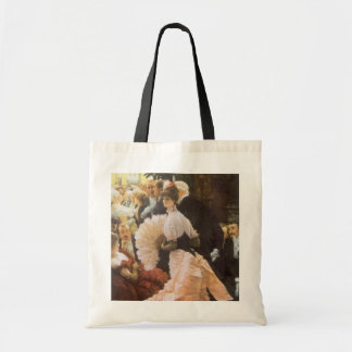 Political Lady by James Tissot, Vintage Victorian Canvas Bags