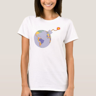 Political Map Earth Globe Bomb T-Shirt