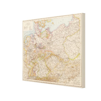 Political Map of Germany Canvas Print