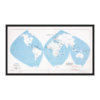 Political Map of the World (1983) Canvas Print