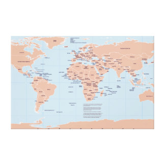Political Map of the World Canvas Print