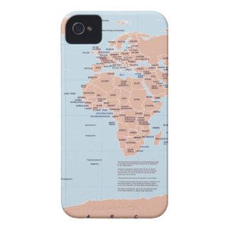Political Map of the World Case-Mate iPhone 4 Cases