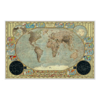 Political Map of the World - Imperial Decorative Poster