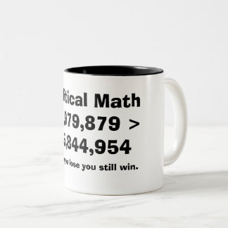 Political math Two-Tone coffee mug