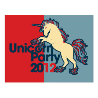 Political Parody Unicorn Party Postcard