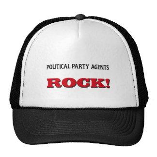 Political Party Agents Rock Hats