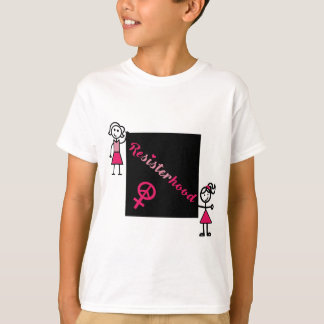 Political Protest Resisterhood Stick Women T-Shirt