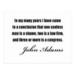 Political quotes by John Adams Post Card