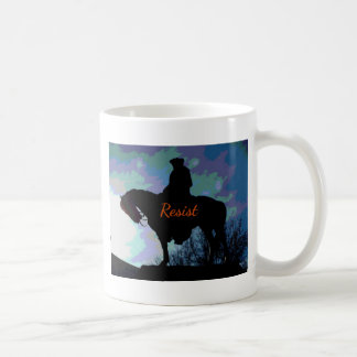 "Political 'RESIST"" George Washington On Horse Coffee Mug"