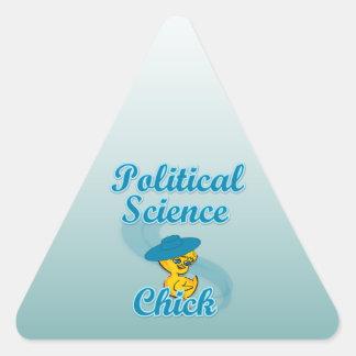 Political Science Chick #3 Triangle Sticker