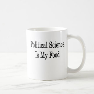 Political Science Is My Food Mugs