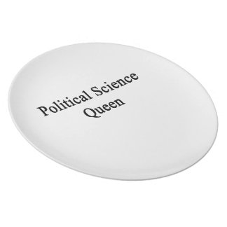 Political Science Queen Dinner Plate