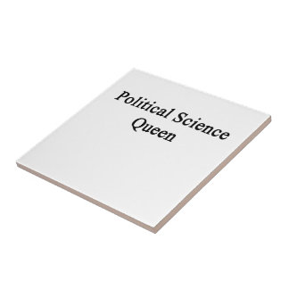 Political Science Queen Small Square Tile