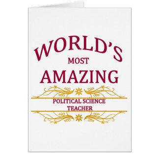 Political Science Teacher Greeting Card