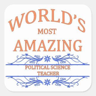 Political Science Teacher Square Sticker