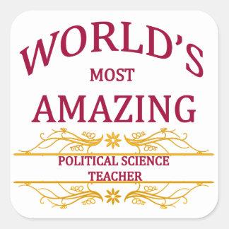 Political Science Teacher Stickers
