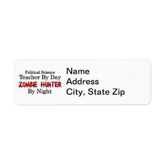 Political Science Teacher/Zombie Hunter Return Address Label
