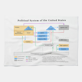 Political System of the United States Diagram Kitchen Towel