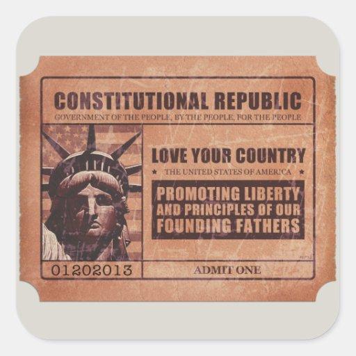 Political Ticket Sticker