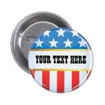 Political USA Flag Button