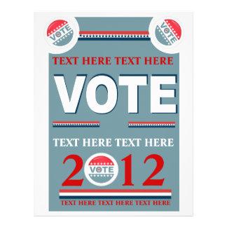 Political Vote 21.5 Cm X 28 Cm Flyer