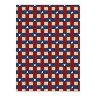 Political Weave 14 Cm X 19 Cm Invitation Card