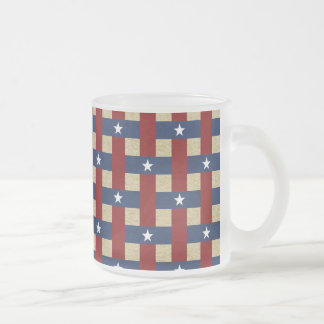 Political Weave Frosted Glass Coffee Mug