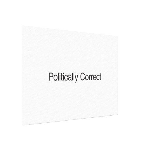 Politically Correct Canvas Print