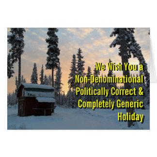 Politically Correct Holiday Greeting Card