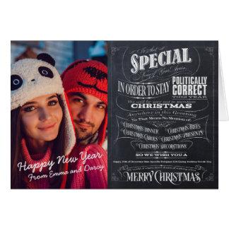 Politically Correct Incorrect Chalkboard Christmas Card