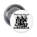 Politically Correct Liberals 3 Monkeys Pin