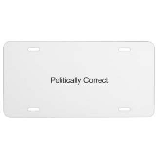 Politically Correct License Plate