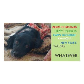 Politically correct xmas holiday christmas card