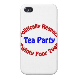 Politically Respect - Tea Party iPhone 4 Case