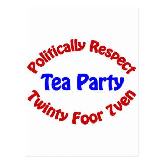 Politically Respect - Tea Party Postcard