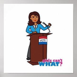 Politician Girl Print