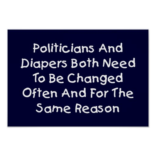 Politicians And Diapers Print