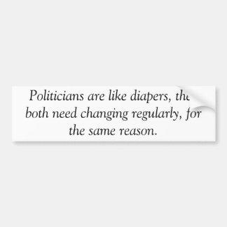Politicians are like diapers, anti obama sticker