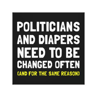 Politicians Diapers Gallery Wrap Canvas
