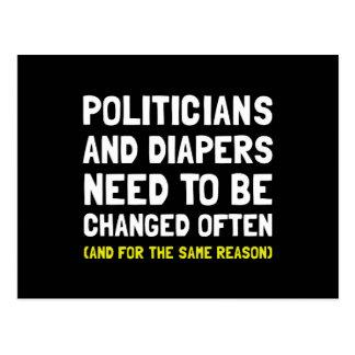 Politicians Diapers Postcard