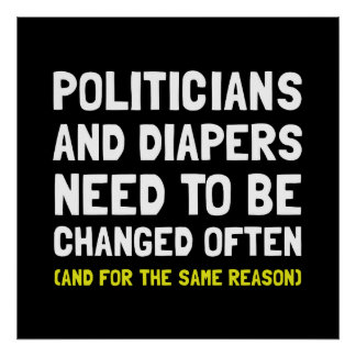 Politicians Diapers Poster