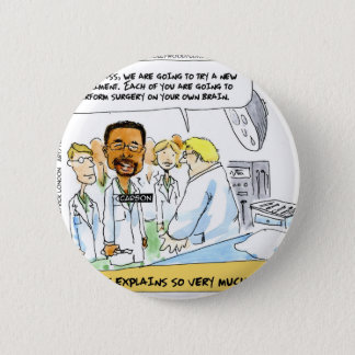 Politics: Does It Take Brain Surgery? 6 Cm Round Badge