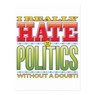 Politics Hate Face Postcard