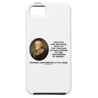 Politics Like Religion Hold Up Torches Martyrdom iPhone 5 Case