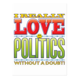 Politics Love Face Postcard