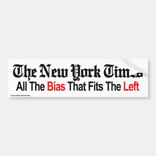 "Politics ""NY TIMES"" bumper sticker"